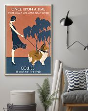 Vintage Girl Once Upon A Time Collie 11x17 Poster lifestyle-poster-1