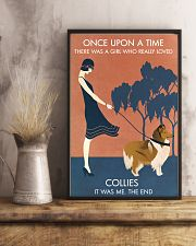 Vintage Girl Once Upon A Time Collie 11x17 Poster lifestyle-poster-3