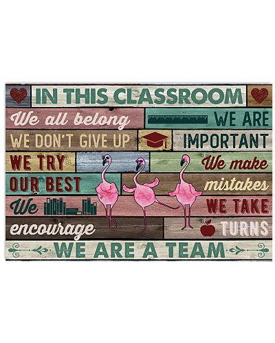 In This Classroom Flamingo
