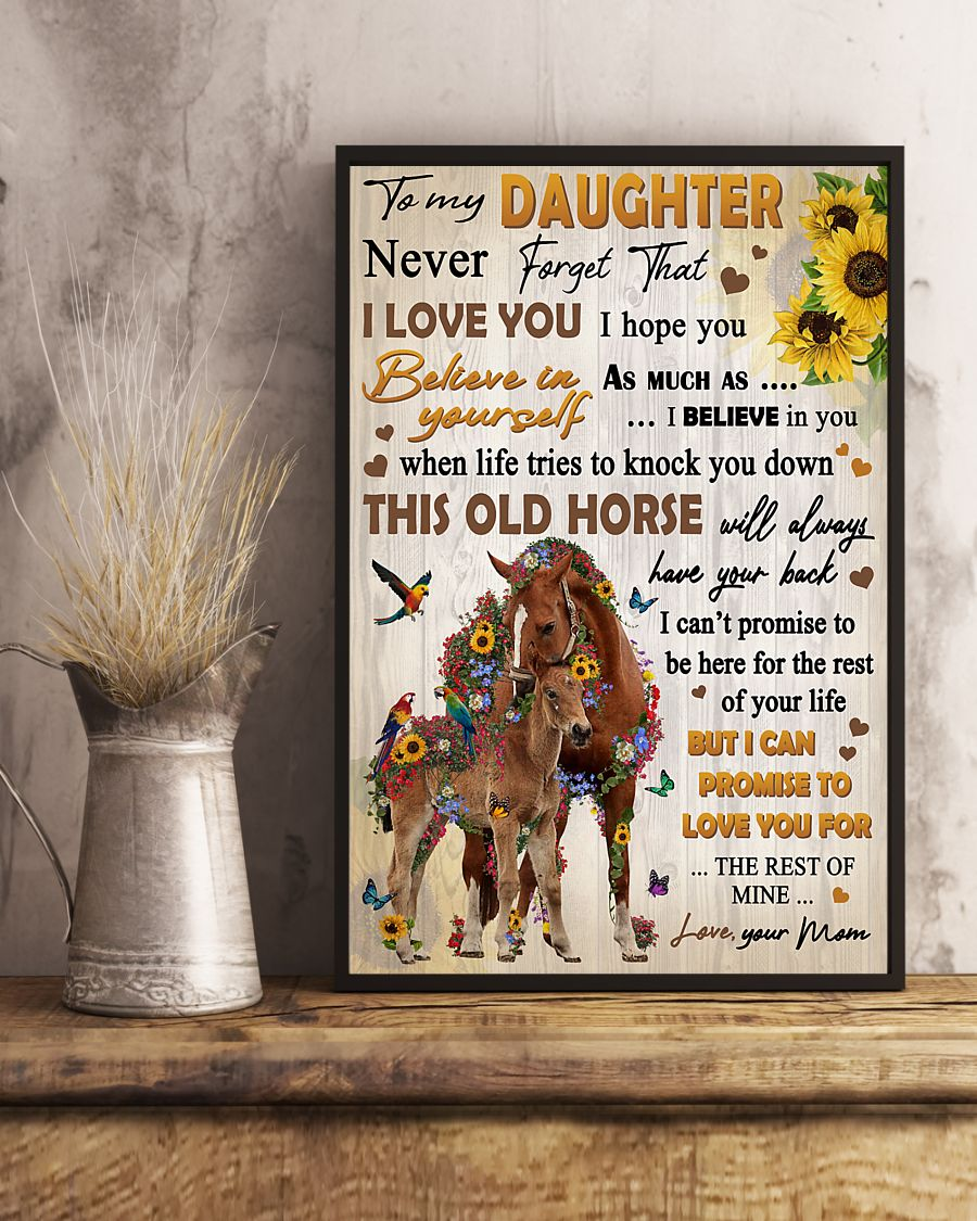 Mom To Daughter Never Forget That I Love You Horse