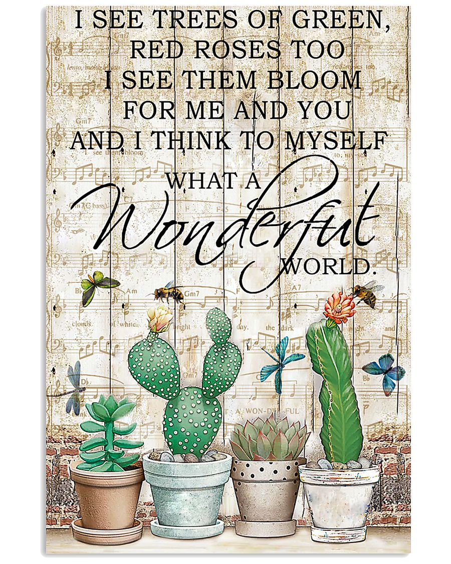 Pallet Music Sheet And I Think Succulent 11x17 Poster
