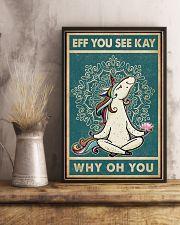 Retro Eff You See Kay Unicorn 11x17 Poster lifestyle-poster-3
