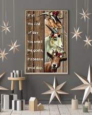 Wood Piece You Smell Like Goats 11x17 Poster lifestyle-holiday-poster-1
