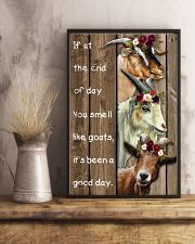 Wood Piece You Smell Like Goats 11x17 Poster lifestyle-poster-3