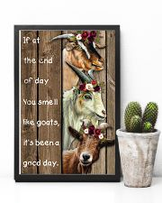 Wood Piece You Smell Like Goats 11x17 Poster lifestyle-poster-8