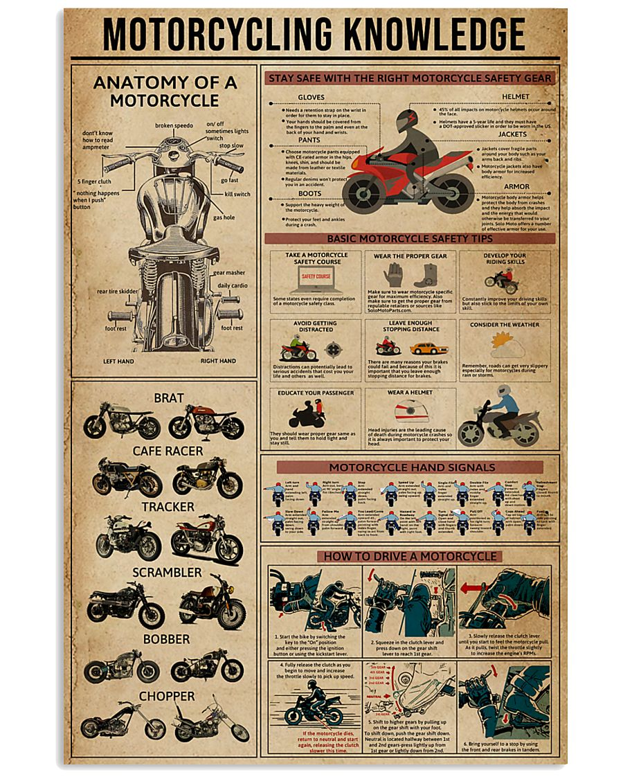 Knowledge Motorcycling 11x17 Poster