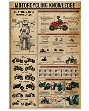 Knowledge Motorcycling 11x17 Poster front