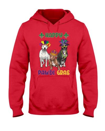 Happy Pawdi Gras Pit bull