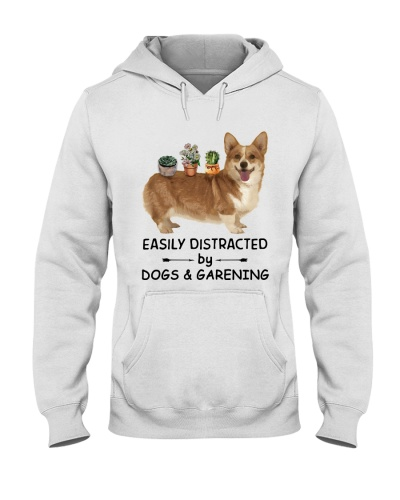 Easily Distracted By Corgi And Gardening
