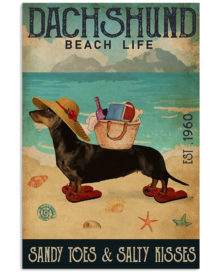 Beach Life Sandy Toes Dachshund 11x17 Poster