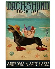 Beach Life Sandy Toes Dachshund 11x17 Poster front