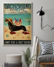 Beach Life Sandy Toes Dachshund 11x17 Poster lifestyle-poster-1
