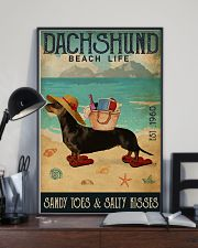 Beach Life Sandy Toes Dachshund 11x17 Poster lifestyle-poster-2