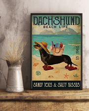 Beach Life Sandy Toes Dachshund 11x17 Poster lifestyle-poster-3