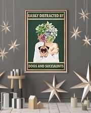 Easily Distracted By Pug And Succulents 11x17 Poster lifestyle-holiday-poster-1