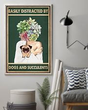 Easily Distracted By Pug And Succulents 11x17 Poster lifestyle-poster-1