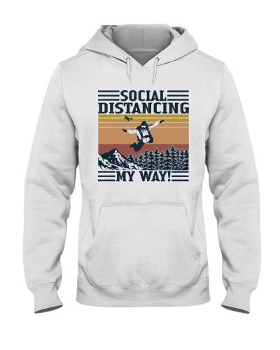 Retro Navy Social Distancing My Way Skydiving