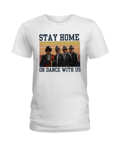 Retro Navy Stay Home Or Dance With Us