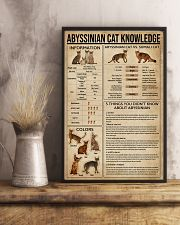Abyssinian Cat Knowledge 11x17 Poster lifestyle-poster-3