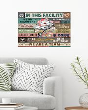 Nurse In This Facility We Do Teamwork 24x16 Poster poster-landscape-24x16-lifestyle-01