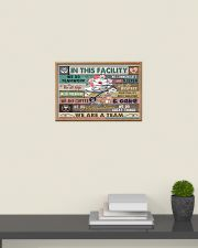Nurse In This Facility We Do Teamwork 24x16 Poster poster-landscape-24x16-lifestyle-09