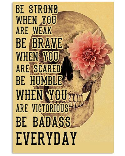 Be Strong When You Are Week Retro Skull