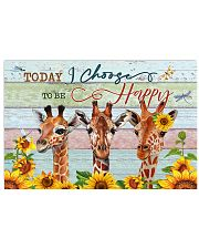 Today I Choose To Be Happy Giraffe 24x16 Poster front