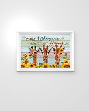 Today I Choose To Be Happy Giraffe 24x16 Poster poster-landscape-24x16-lifestyle-02
