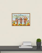Today I Choose To Be Happy Giraffe 24x16 Poster poster-landscape-24x16-lifestyle-09