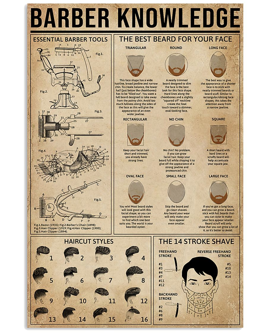 Barber Knowledge 16x24 Poster