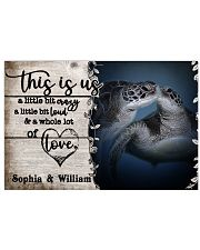 Personalized Sea Turtle A Little Bit Of 24x16 Poster front