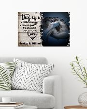 Personalized Sea Turtle A Little Bit Of 24x16 Poster poster-landscape-24x16-lifestyle-01