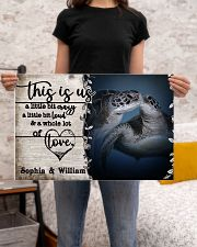 Personalized Sea Turtle A Little Bit Of 24x16 Poster poster-landscape-24x16-lifestyle-20