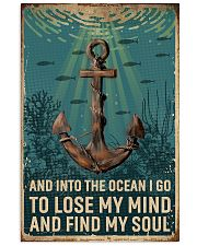 Retro Ocean Find My Soul Sailor 11x17 Poster front