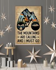 Watercolor Bike The Mountains Are Calling 11x17 Poster lifestyle-holiday-poster-1