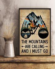 Watercolor Bike The Mountains Are Calling 11x17 Poster lifestyle-poster-3