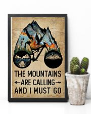 Watercolor Bike The Mountains Are Calling 11x17 Poster lifestyle-poster-8