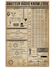 Amateur Radio Knowledge Poster 11x17 Poster front