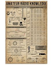 Amateur Radio Knowledge Poster 16x24 Poster front