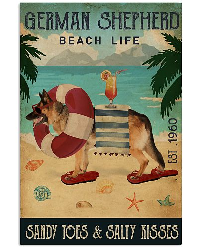Vintage Beach Cocktail Life German Shepherd