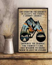 God grant me Dictionary Blue Cycling 11x17 Poster lifestyle-poster-3