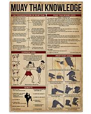 Muay Thai Knowledge 11x17 Poster front