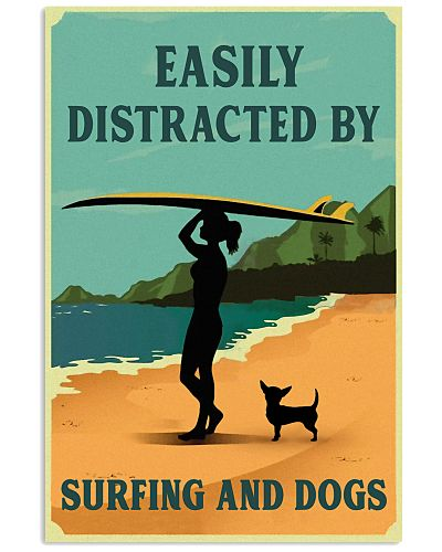 Vintage Easily Distracted Surfing Girl Chihuahua