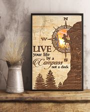 Hiking  Live Your Life By A Compass 11x17 Poster lifestyle-poster-3