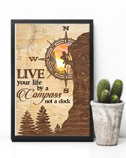 Hiking  Live Your Life By A Compass 11x17 Poster lifestyle-poster-8