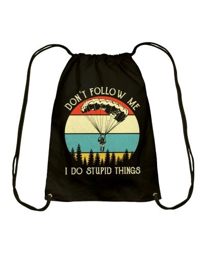 Retro Blue Don't Follow Me I Do Paragliding