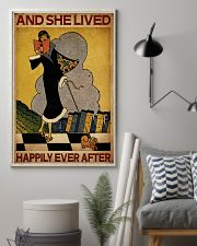 Vintage Lived Happily Reading 16x24 Poster lifestyle-poster-1