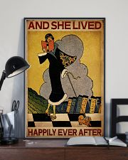 Vintage Lived Happily Reading 16x24 Poster lifestyle-poster-2