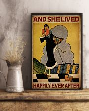 Vintage Lived Happily Reading 16x24 Poster lifestyle-poster-3