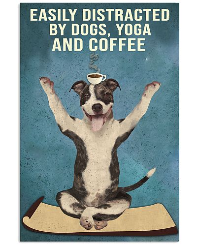 Dictracted By Dogs Yoga And Coffee Pit Bull